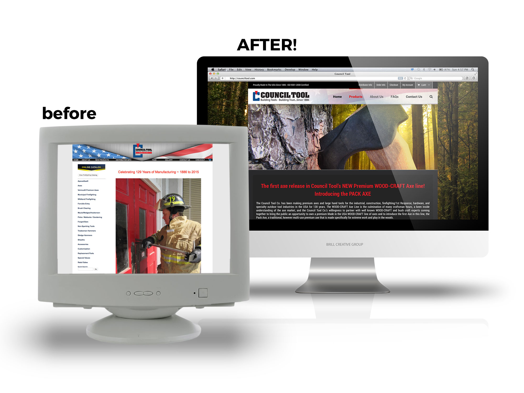 Council Tool Before and After ECommerce Website Design