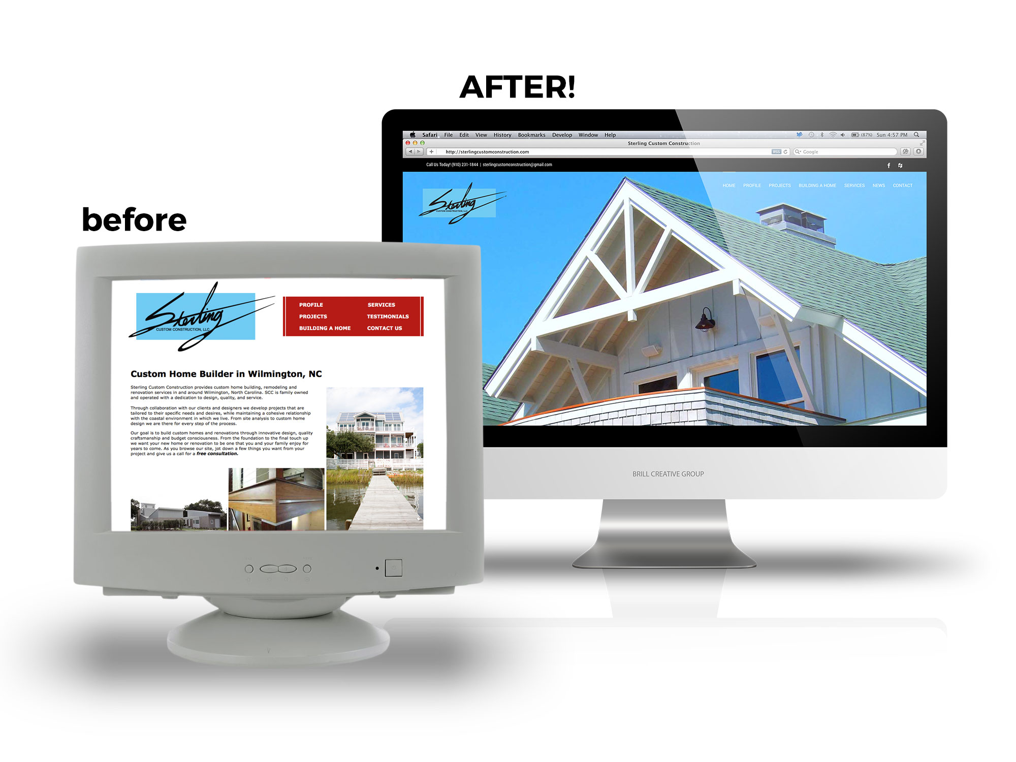 Sterling Custom Construction Website Design Case Study