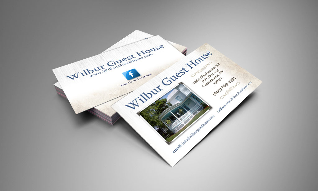 Wilbur Guest House Business Card Design Wilmington NC – Brill ...